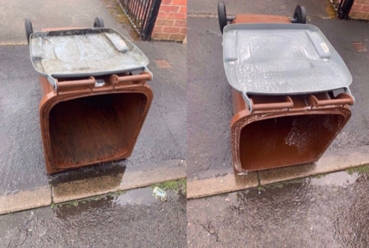From dirty to clean - Recycling bins